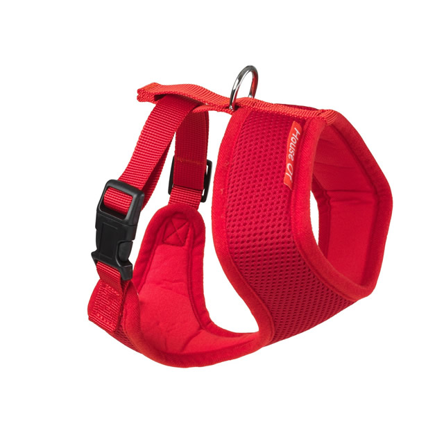 Memory Foam Dog Harness Red